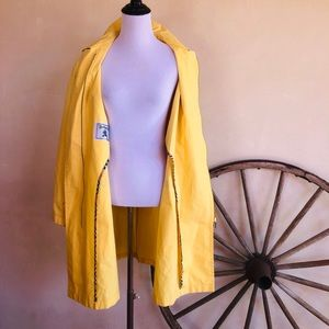 Burberrys Jackets & Coats - BURBERRYS Yellow Nautical Duffle Trench Coat RARE!